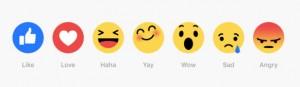 XXFacebook comenzó a probar Reactions: una extensión del Me Gusta
